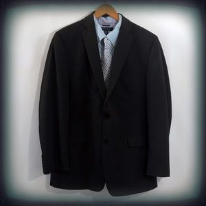Calvin Klein Men's Black Pin Striped Blazer